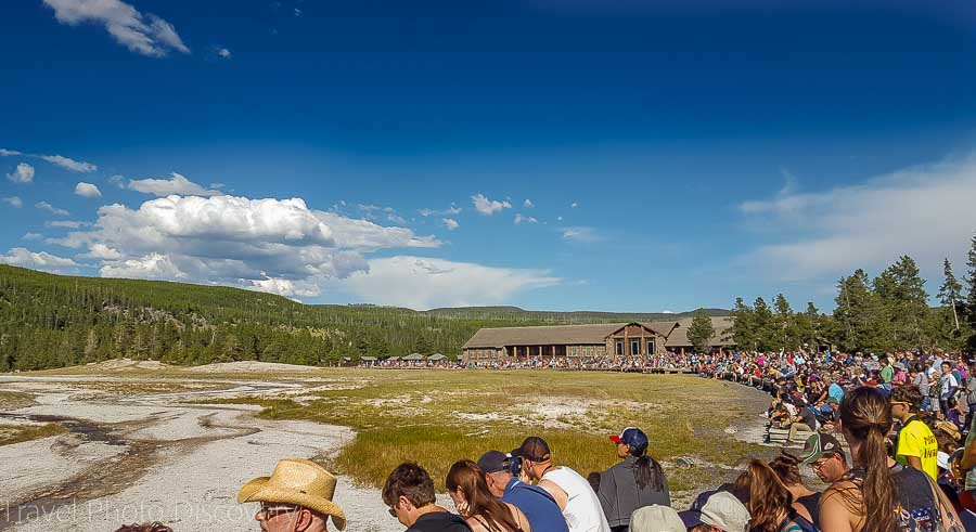 Old Faithful at Yellowstone National Park 2016