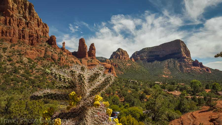 Exterior views at the Chapel of the Holy Cross in Sedona Arizona