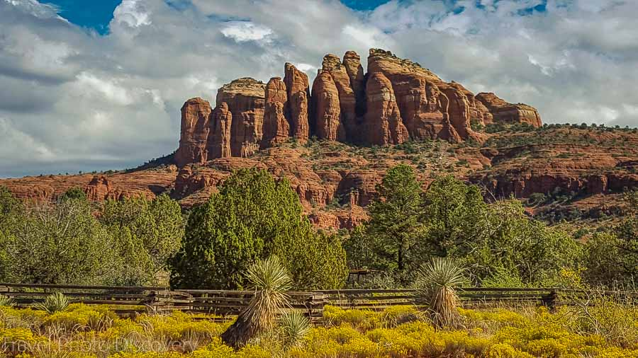 Fall colors at Oak Creek and Cathedral rock Sedona Arizona