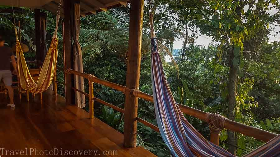 Open air living in a casita bedrooms at La Loma in Bastimentos Panama