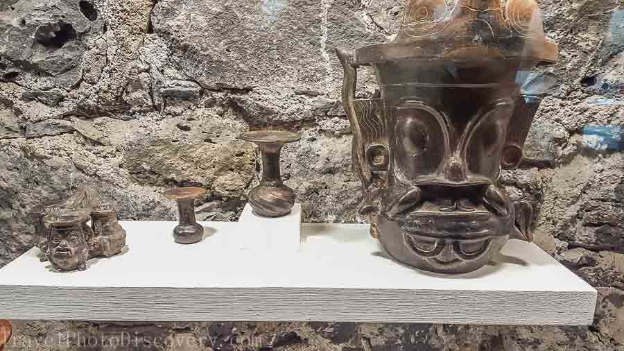 Meso American artifacts at Museo Anahuacalli in Mexico City
