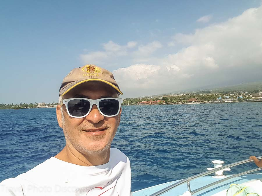 Enjoying the Kona coastline with Body Glove snorkel cruises