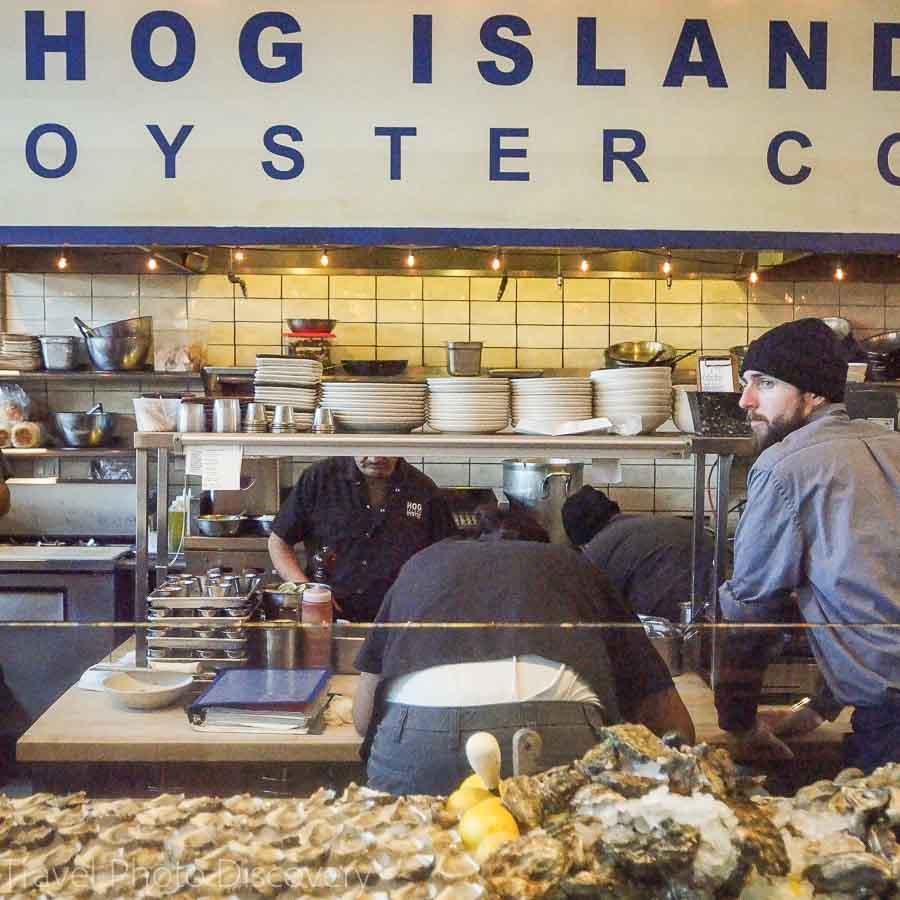 Hog Island Oysters at Oxbow Public Market