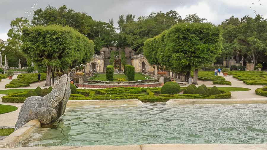 Lush living gardens of Vizcaya museum