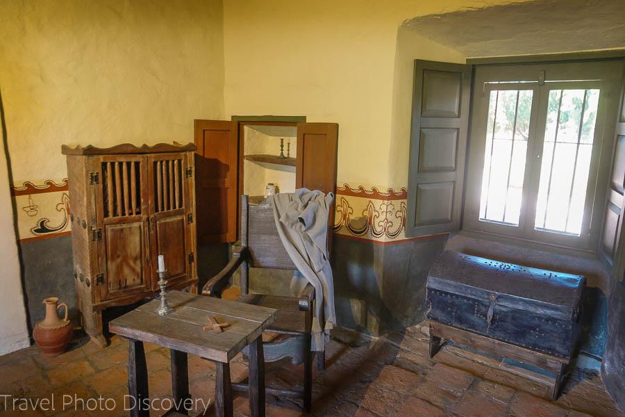 Personal chamber at San Juan Capistrano