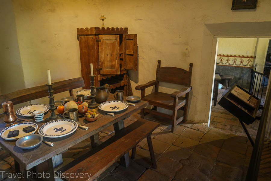 Mission interiors at San Juan Capistrano Mission