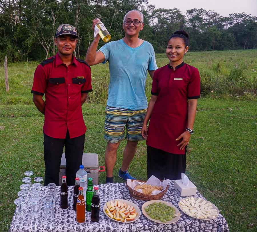 Cocktail hour at Chitwan National Park