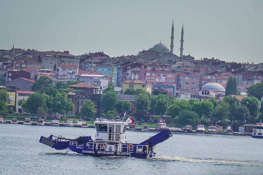 Ferry and water views to Istanbul and the historic district of Istanbul