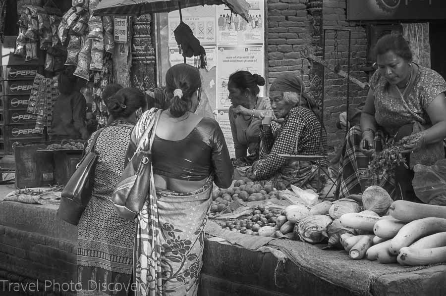 Market stand in the Thamel district of Katmandu