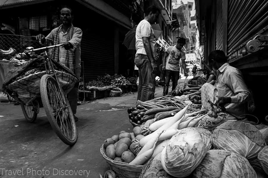 Market stand in the Thamel district of Katmandu