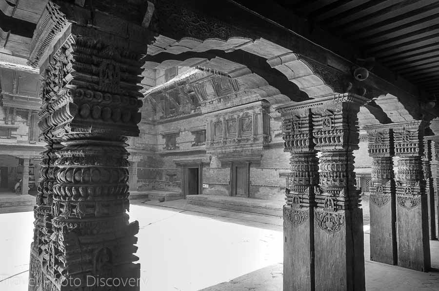 Durbar square royal palace at Katmandu - interior courtyard
