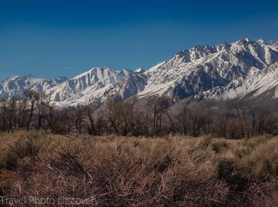 Eastern Sierra landscape Inyo County Hwy 395 Eastern Sierras