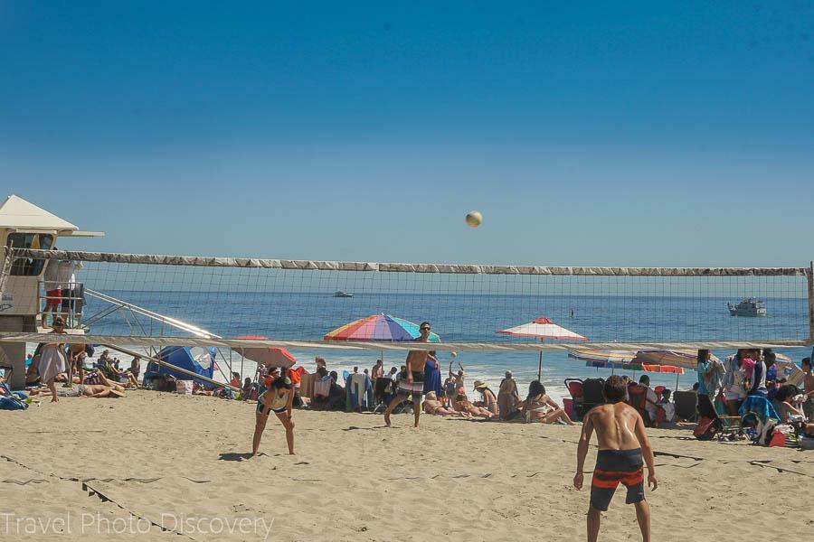 Exploring Laguna Beach coastline and Volleyball on the beach