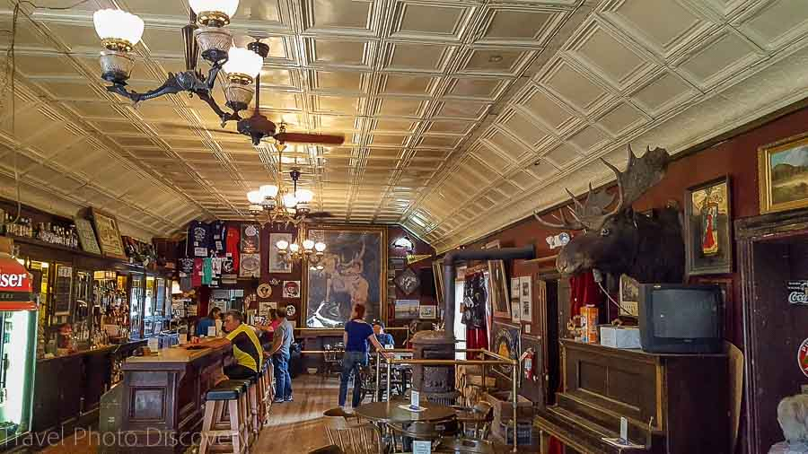 An old time bar in The Virginia City Montana