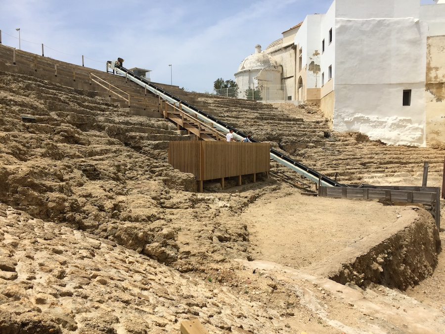 The roman ruins in Cadiz Spain