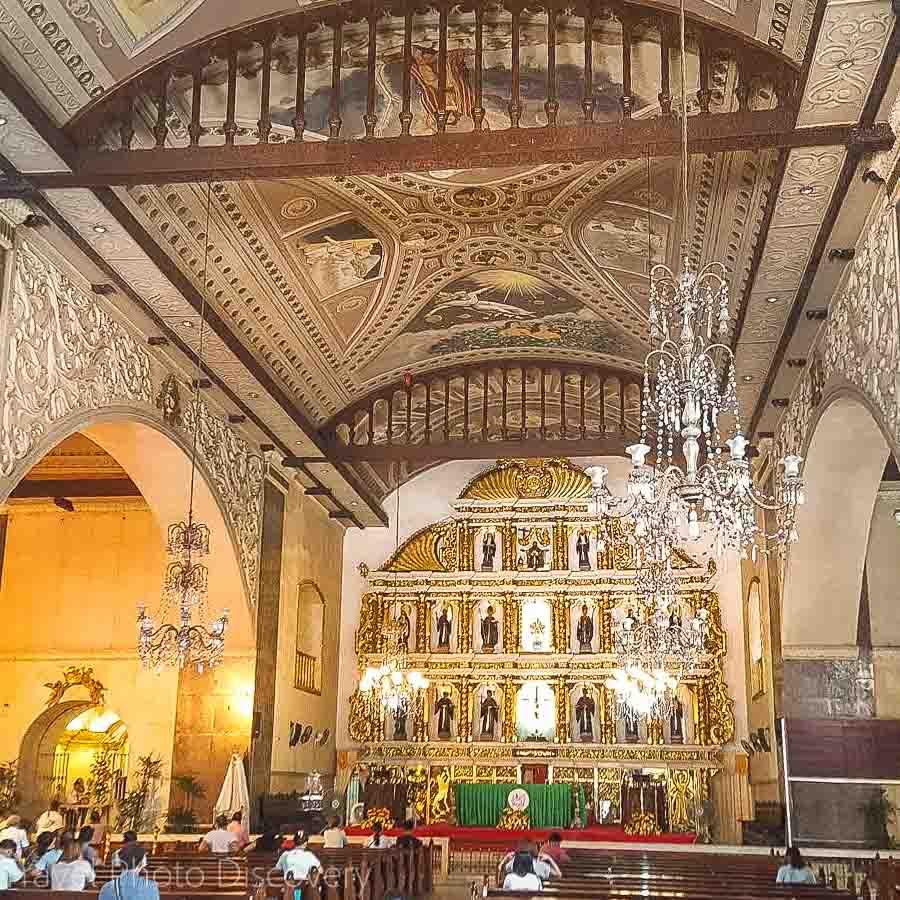 Interior of the basilica del Santo Nino