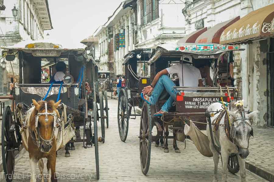 Calesa rides Calle Crisologo in Vigan City