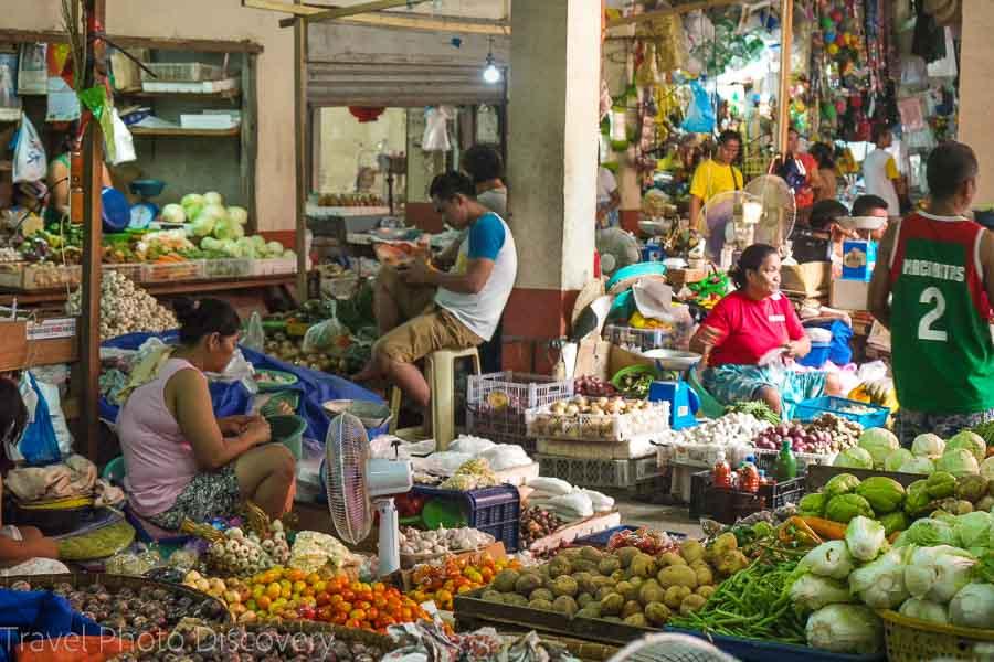Public market in historic Vigan city