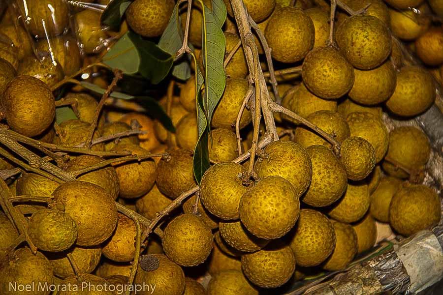 Tropical Longan fruits