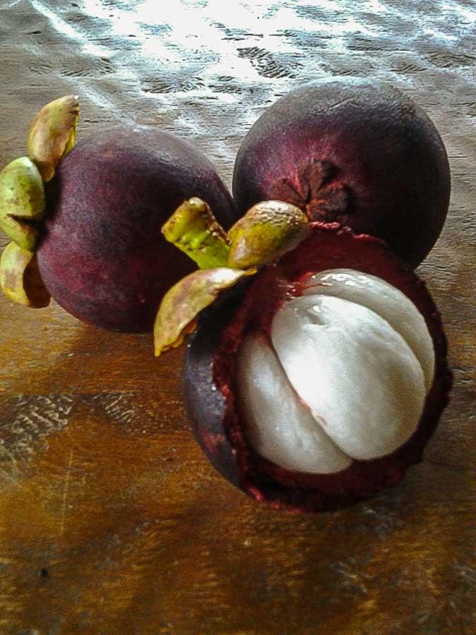 mangosteen exotic fruit