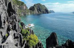 View of Tapiutan Strait from atop Matinloc Shrine, El Nido