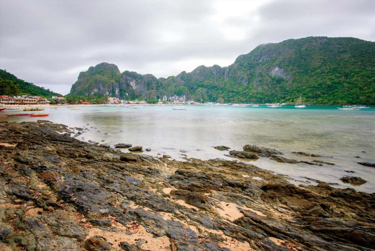 El Nido town proper as seen from Caalan Beach