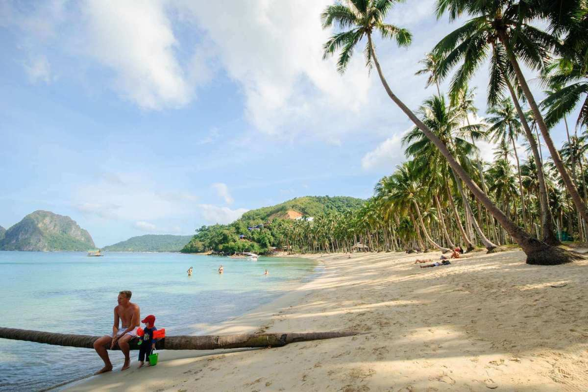 El Nido's Marimegmeg Beach, also called Las Cabanas