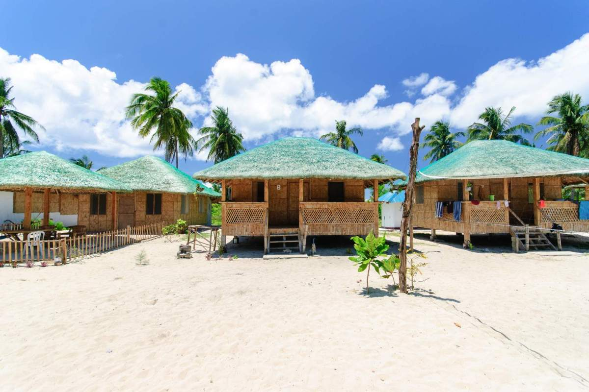 Cagbalete Some of the larger cottages at Villa Noe Beach Resort