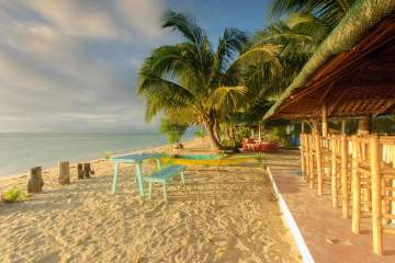 Cagbalete Island morning at Joven's Beach Resort