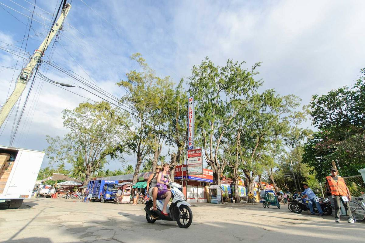 Motoring through downtown Santa Fe, Bantayan Island