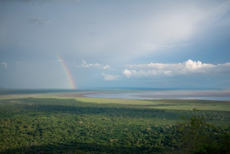 Rainbow over Lake Manyara