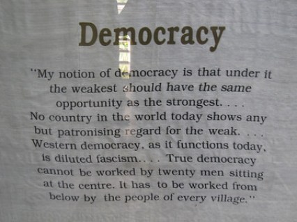 Gandhi quote about democracy