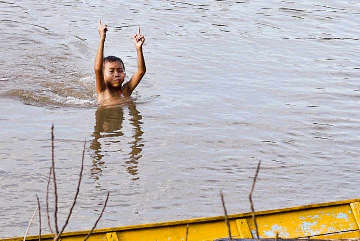 boy in river