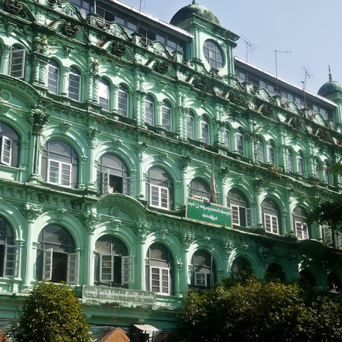 colonial architecture in Yangon, Burma