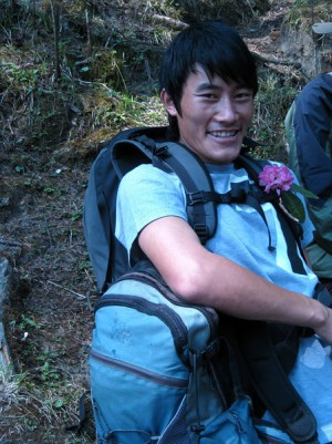 Our Porter on our poon hill trek