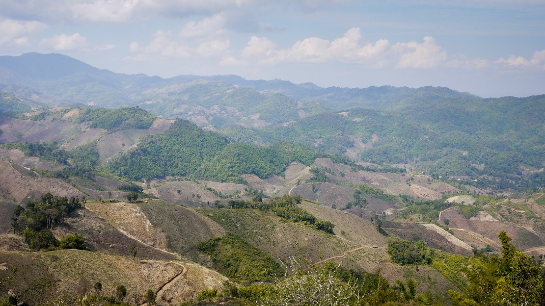 Mountains around Chiang Rai, Thailand