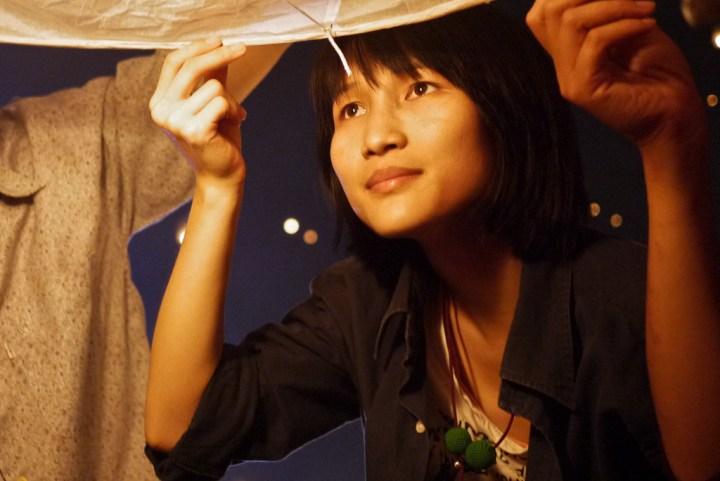 Loy krathong lantern release