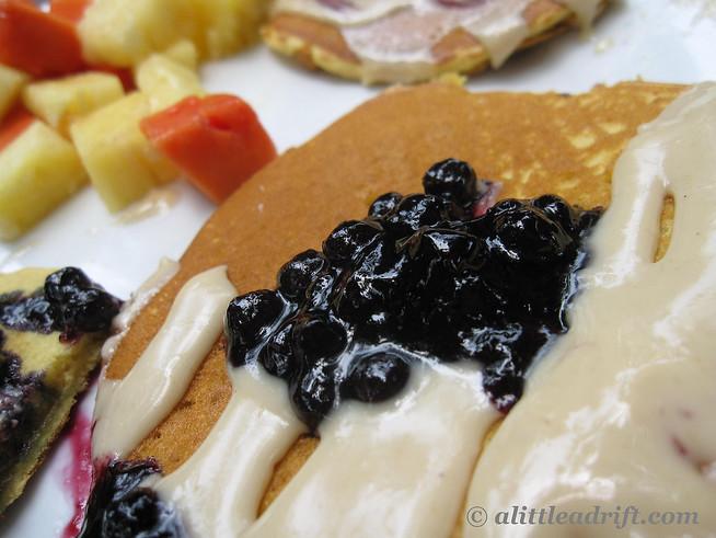 Macadamia and Blueberry Pancakes