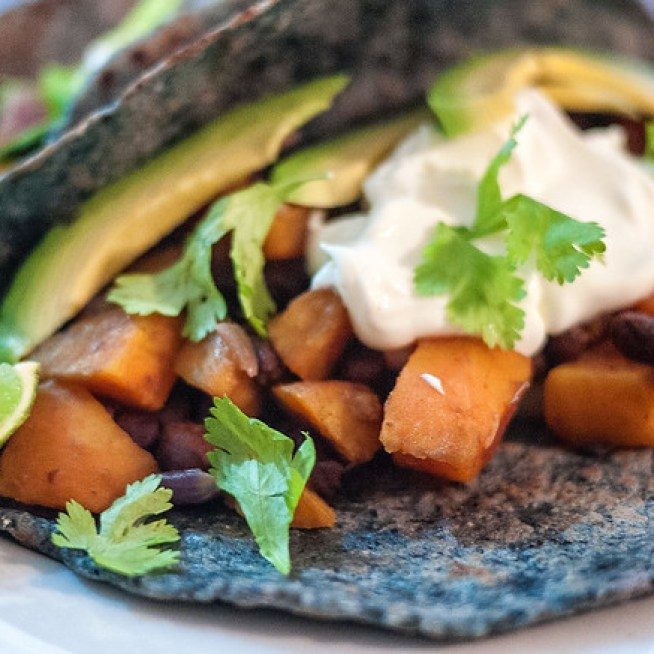 Simple sweet potato tacos
