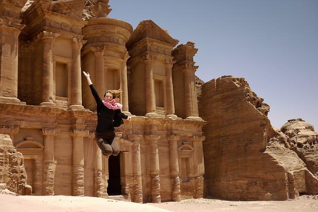 The Monastery in Petra, Jordan.