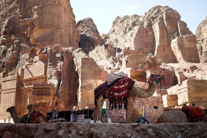 Street of Facades in Petra, Jordan.