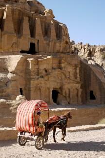 Horse-drawn carriage, Petra, Jordan.
