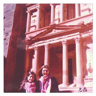 Exploring the ancient city of Petra, Jordan