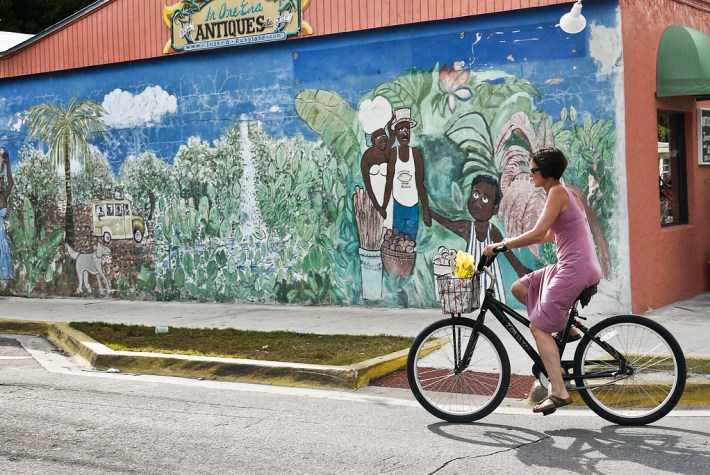 Bike Ride and Mural, Key West, Florida