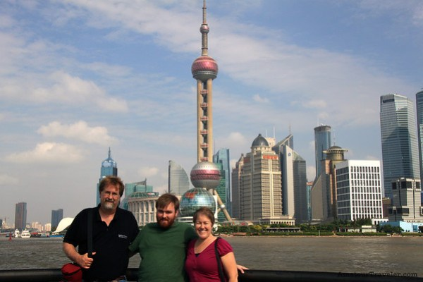 The Pudong in the background