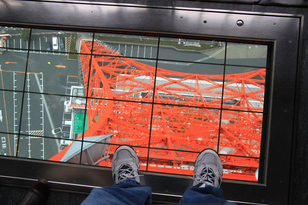 Looking down from the Tokyo Tower