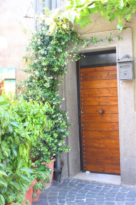 Charming entrance in Bracciano Italy.