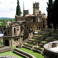 "Roman Castle, Umbria, the region they call ""The Green Heart of Italy."""