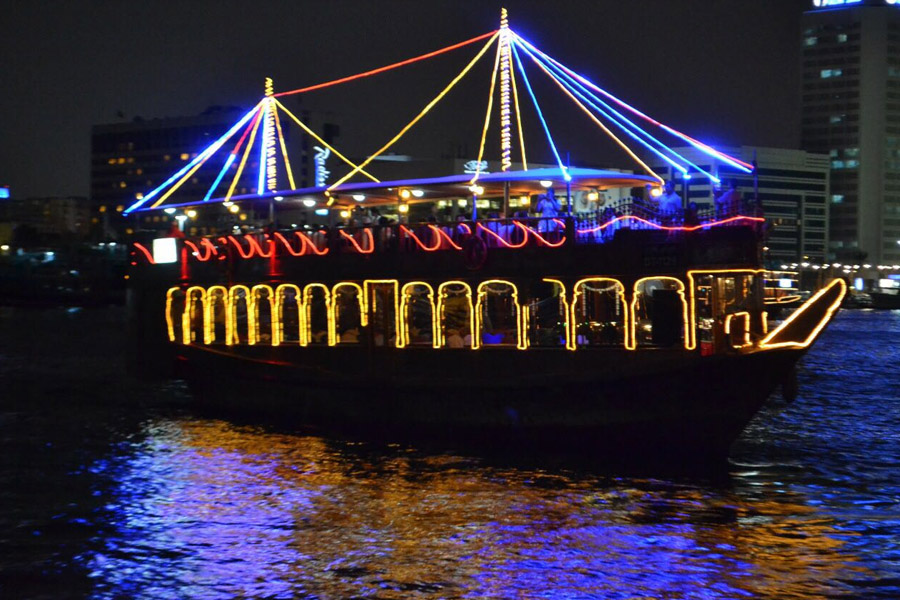 Package Dhow Cruise Dinner Deira Creek TRAVEL