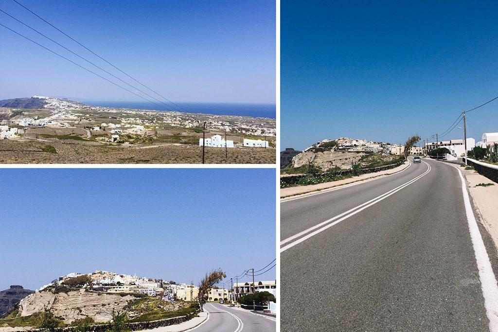 Những con đường Santorini